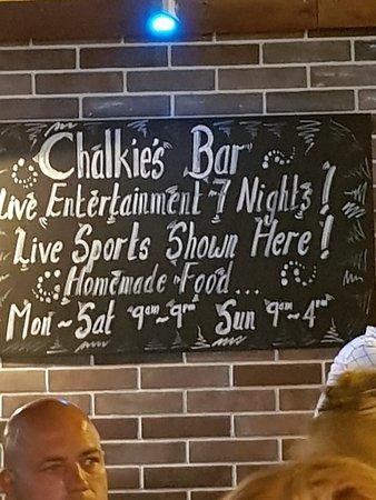 Bilde fra Chalkies Bar