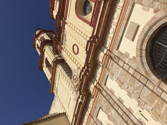 Church of Nuestra Senora de la Encarnacion: View on sunny day at front of church