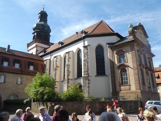 Fulda, Tyskland: Klosterkirche von hinten