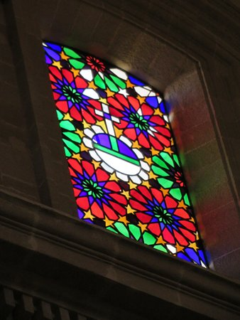 Iglesia Colegial del Salvador: More modern stained glass windows