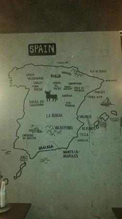 Map 9f Spain.Map Of Spain Picture Of Vagabond London Tripadvisor
