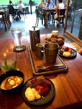 The Mill House: dessert & coffee spread