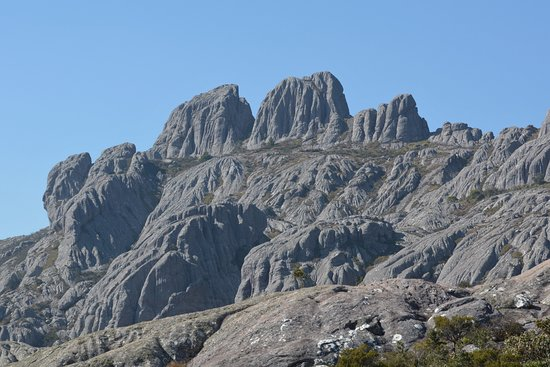 Ambalavao, Madagascar: stegosaurus mountains