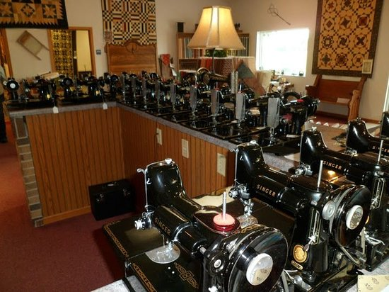 Fennimore, WI: Amazing collection of old sewing machines....primarily Singer Featherweight