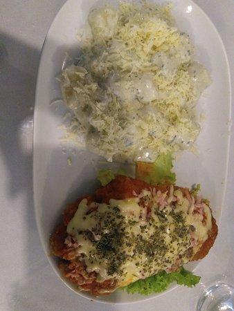 Restaurante Ponto G: Inhoque com bife a parmegiana