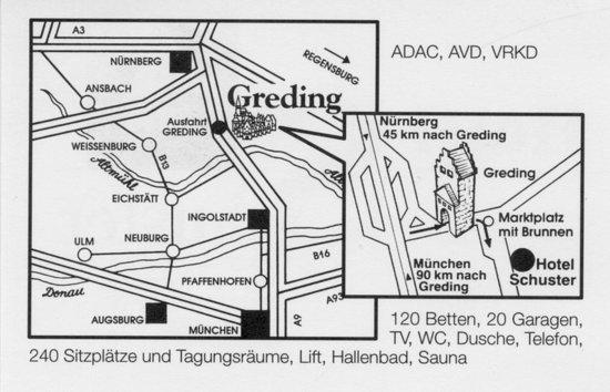 Greding, Germany: Map