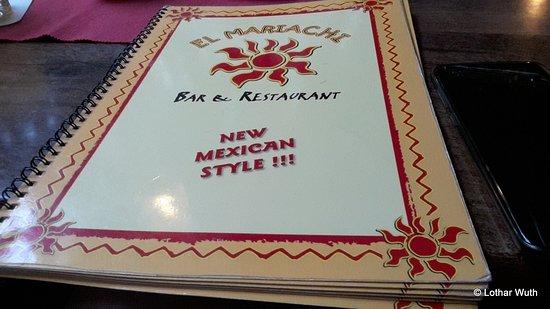 El Mariachi: Speisekarte