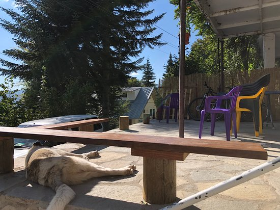 Mavrovi Anovi, Republic of North Macedonia: Our lakeview bench in the front porch