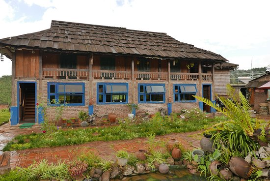 Mu Cang Chai, Βιετνάμ: Ecolodge communal and dining area