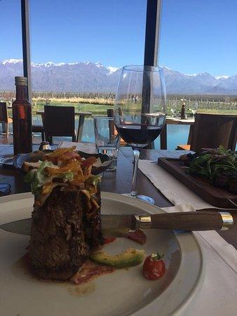 Los Chacayes, Argentina: Carne com dramaticidade!