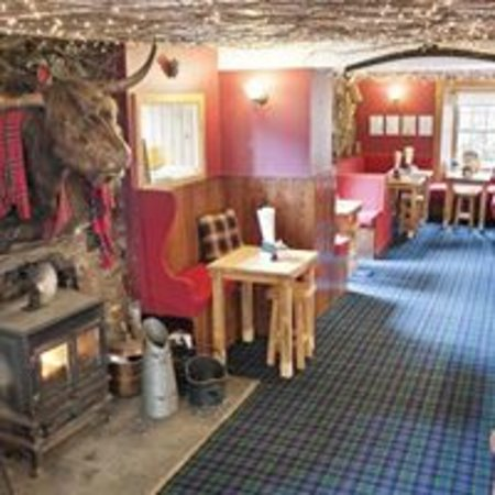 Лох-Эк, UK: Cosy bar and Morag the coo