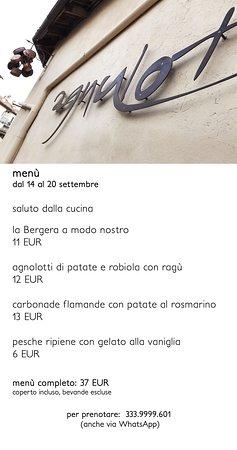 Verduno, Italie : menù dal 14 - 20 settembre