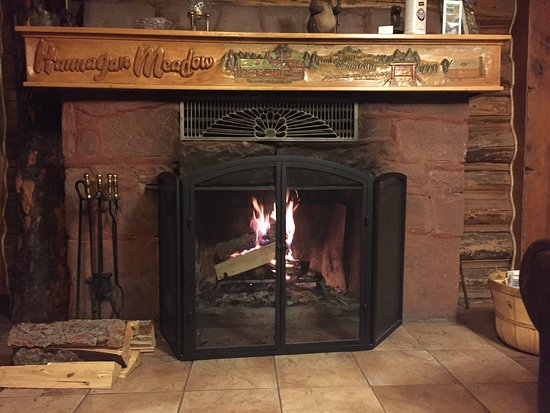 Hannagan Meadow Lodge: Dining Room Fireplace