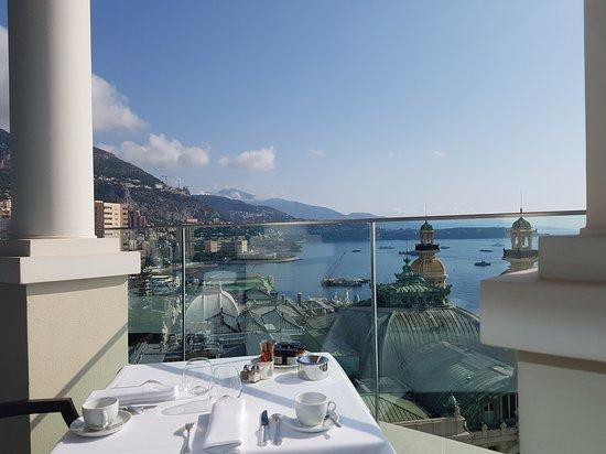 Luxury hotels in Monaco - Shows a balcony view from Hotel de Paris