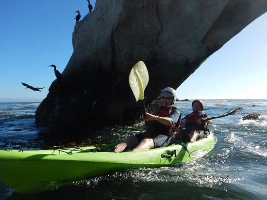 Pismo Beach Surf Kayaking Under An Arch At