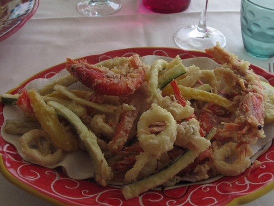 Nocelle, Italia: Tempura seafood
