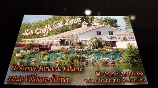 Villenave D'ornon, Prancis: CARTE DU RESTAURANT