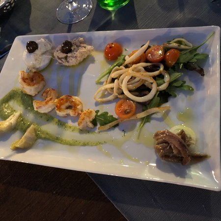 Zambratija, Croatie : Eine klare Empfehlung - Die Gemiachte Vorspeisenplatte von Meeresfrüchten