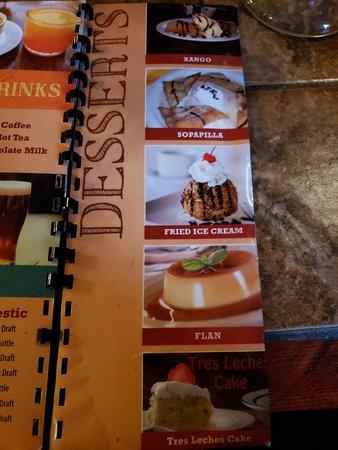 Tewksbury, MA: Drink/Dessert Menu