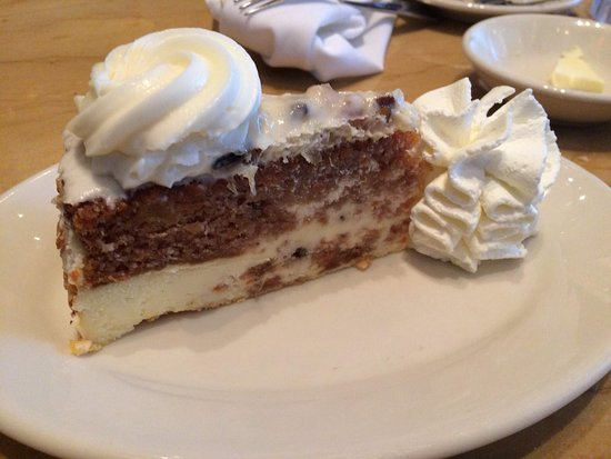 Carrot Cake Cheesecake Picture Of The Cheesecake Factory Seattle