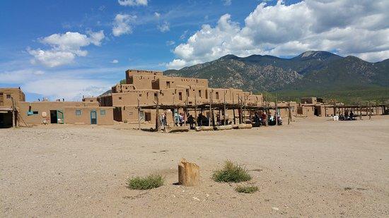Taos Pueblo and gorgeous skies.