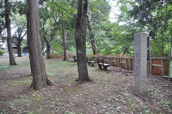 Suginami, Jepang: 石柱に「大宮遺跡」の文字