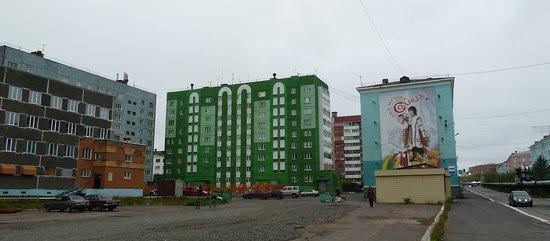 Dudinka, Russland: Etwas Farbe tut gut