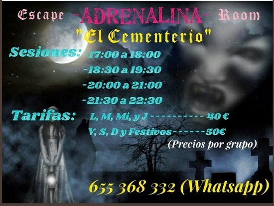 Escape Room ADRENALINA El Cementerio