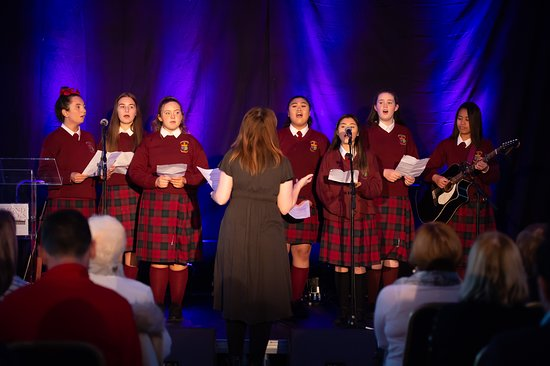Girls from the Mercy Secondary School performing at Richmond Barracks concert