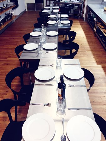 Tables ready for after out cooking tours