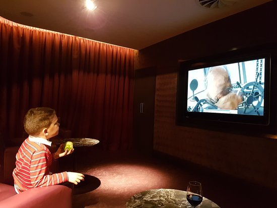 No1 Lounge: Our son enjoying the movie!