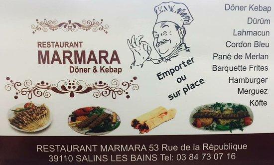 Restaurant Marmara Carte De Visite Picture Of Restaurant