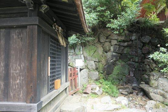 Tanzan Shrine: 龍神出現の井戸ですって。摩尼法井と呼ばれる井戸。