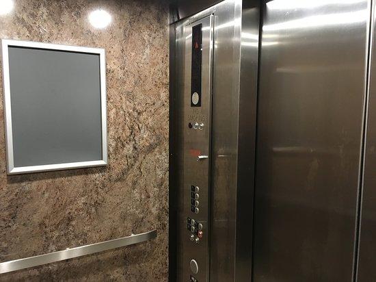 Randolph, MA: Visit: September 2018. (Beat up Elevator)