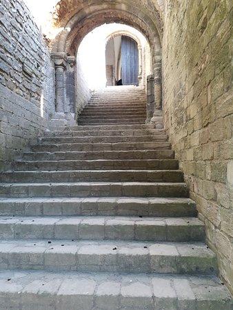 Castle Rising: Steps into main castle
