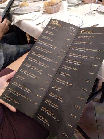 Carta Picture Of Restaurante La Gola Isla Cristina Isla Cristina Tripadvisor