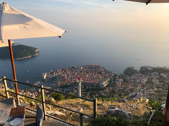 Panorama Restaurant: View of Dubrovnik from the restaurant