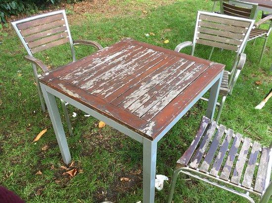 Beer Garden Furniture In Need Of