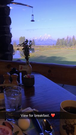 Moose Head Ranch: View from dining room in lodge