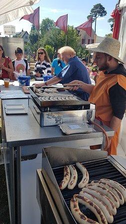 Augst, Switzerland: German sausages