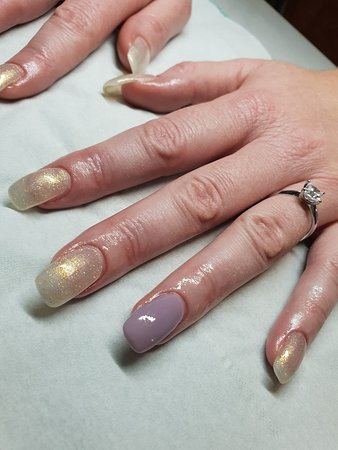 Nails And Beauty By Ellie Hard Gel Nail Extensions With Polish Colour