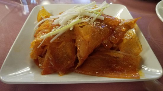 Franklin Square, Nowy Jork: Had to order another well known spicy dish. Beef tendons in chili oil. So good! Yum!