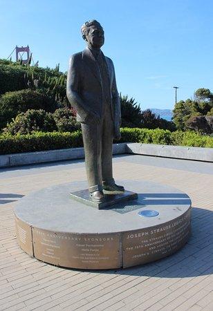 Joseph Baermann Strauss statue