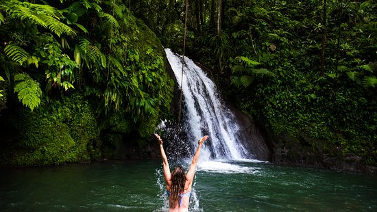 Parc National, Guadeloupe: On s'amuse dans l'eau fraiche !