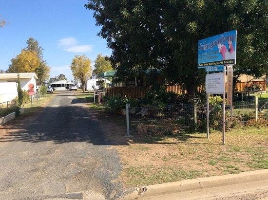 Gulargambone, Australia: Entry to a great park