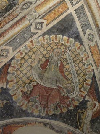 Castelmagno, Italy: boven het altaar in de oude kapel
