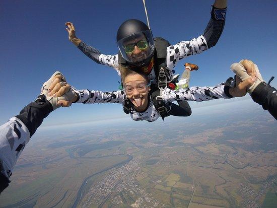 Shilovo, Rusia: прыжки с парашютом в тандеме. инструктаж 15 минут