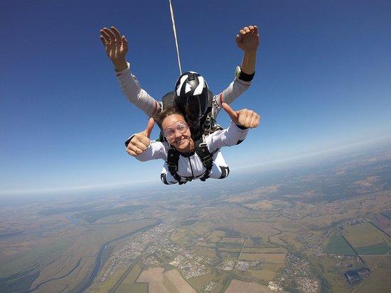 Shilovo, Russland: прыжки с парашютом в тандеме. инструктаж 15 минут