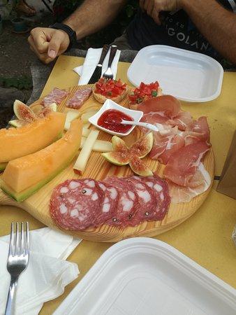 Montefioralle, Italia: Tagliere