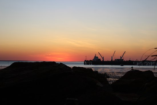 Broome Hovercraft: Port at dawn from Hovercraft base